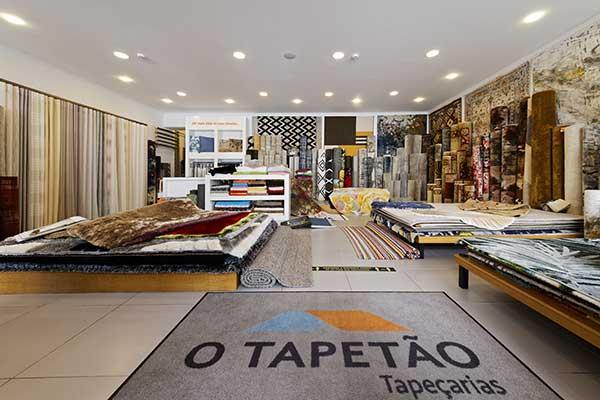 Interior da loja Tapetão em Viseu